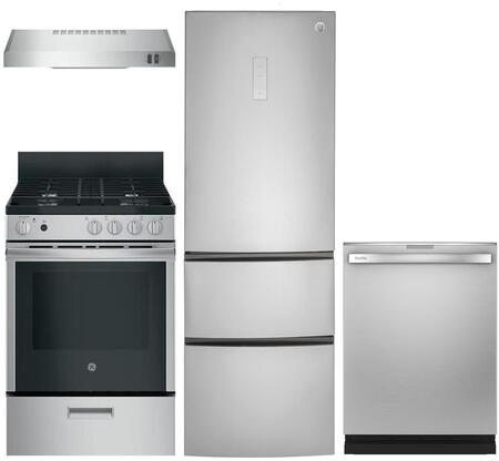 GE 999701 4 piece Stainless Steel Kitchen Appliances Package