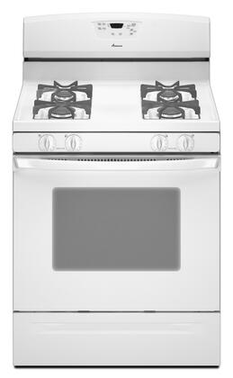 "Amana AGR5844VDW 30"" Gas Freestanding Range with Sealed Burner Cooktop, 5.0 cu. ft. Primary Oven Capacity, Storage in White"