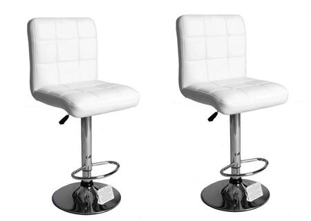 Acme Furniture 96010 Gaylord Series Residential Faux Leather Upholstered Bar Stool