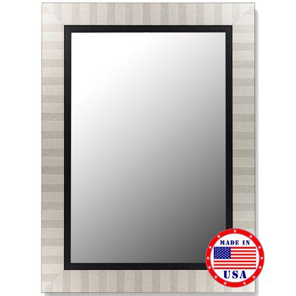 Hitchcock Butterfield 25320X Cameo Mirror in Parma Silver with Satin Black Liner
