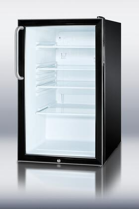 Summit SCR500BLBITB  Compact Refrigerator with 4.1 cu. ft. Capacity in Black