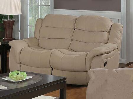 Acme Furniture 15221 Caray Series Fabric Reclining with Wood Frame Loveseat