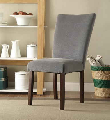 4D Concepts 175737 stabilyne parson chair in midnight gray
