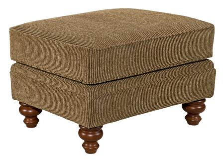 "Broyhill Larissa 61125COLOR 28"" Wide Ottoman with Turned Feet, Interlocking Wood Frame and Hand Tailored in"