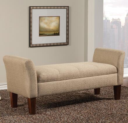 Coaster 500076 Benches Series Accent  Wood Fabric Bench