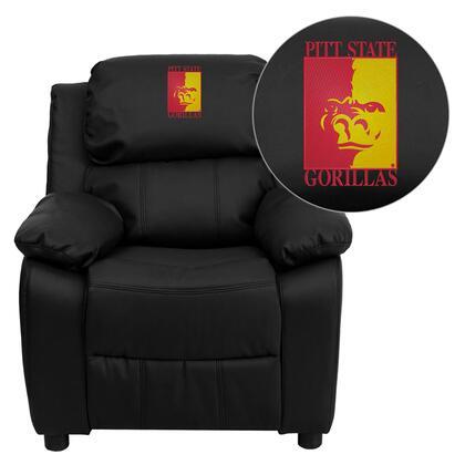 Flash Furniture BT7985KIDBKLEA41061EMBGG Childrens Bonded Leather Wood Frame  Recliners