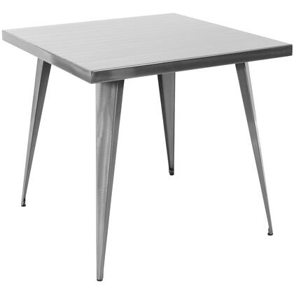 "LumiSource Austin DT-TW-AU3232 32"" Dining Table with Matte Finish, Metal Frame and Tapered Legs in"