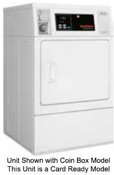 "Speed Queen SDBYAGS 27"" Single Load Dryer with 7 cu. ft. Capacity, Front Lint Filter, Micro Display Control and Prep for Card, in White"