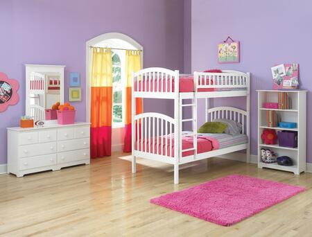 Atlantic Furniture YBBRICHMONDTWINTWINWH Richmond Series  Twin Size Bunk Bed