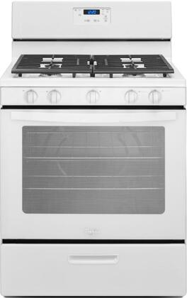 "Whirlpool WFG505M0BW 30"" Gas Freestanding Range with Sealed Burner Cooktop, 5.1 cu. ft. Primary Oven Capacity, Broiler in White"
