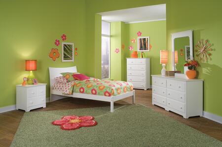 Atlantic Furniture SSOHOOFTWINWH Soho Series  Twin Size Bed