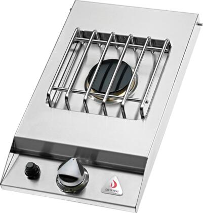 """Delta Heat DHSB1D-Cx 12"""" Built-In Side Burner with 1 Sealed Burner, 16000 BTU Total Output, Stainless Steel Top Cover, and 304 Stainless Steel Construction, in Stainless Steel"""