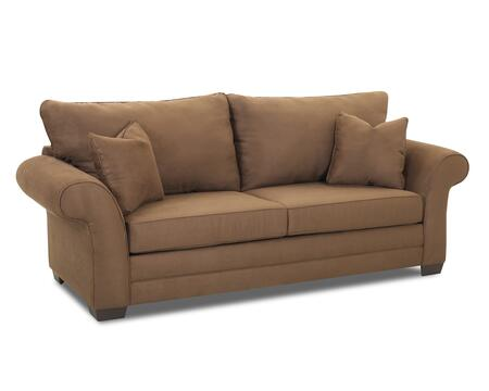 "Klaussner Holly Collection E76900-S 93"" Sofa with Rolled Arms, Two Over Two Cushion Design and Two Accent Pillows in"