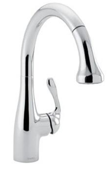 Hansgrohe 4066 Pullout Spray HighArc Kitchen Faucet from the Allegro E Collection: