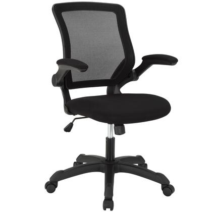 Modway EEI-825 Veer Office Chair with Breathable Mesh Back, Pneumatic Height Adjustment, Tilt Tension Control, Flip-Up Arms, Sponge Seat, and Mesh Fabric, in