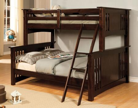 Furniture of America CMBK602FEXPBED Spring Creek Series  Twin Over Full Size Bunk Bed