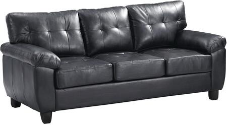 "Glory Furniture 78"" Sofa with Tufted Cushions, Pillow Top Arms, Tapered legs, Removable Backs and Faux Leather Upholstery in"