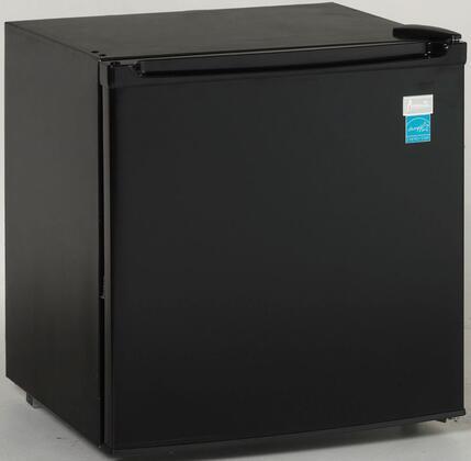Avanti RM176 Compact Refrigerator with 1.7 Cu. Ft. Capacity, Temperature Control, Recessed Door Handle and Field Reversible Door in