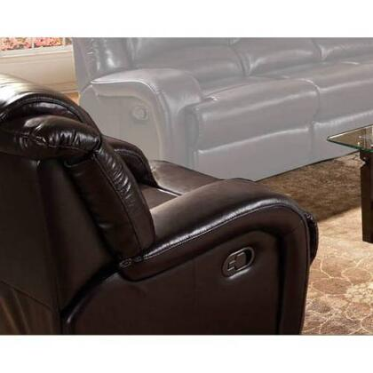 Novo Home 98801RR Cavatina Series Contemporary Leather Match Wood Frame  Recliners