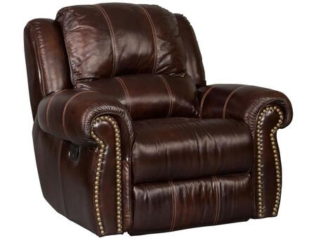 Saddle Brown Glider Recliner