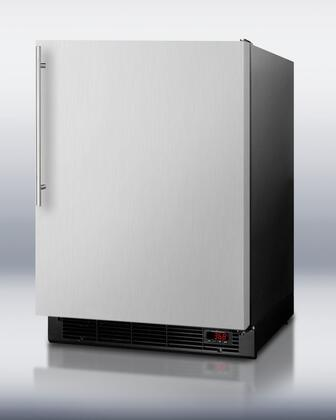 Summit BI605BFFSSVHLHD  Built In Counter Depth Compact Refrigerator with 6.1 cu. ft. Capacity, 3 Wire Shelves