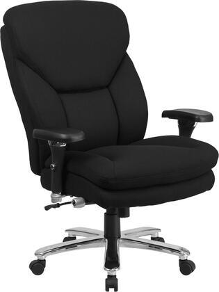 Flash Furniture GO2085XGG HERCULES Series 24/7 Intensive Use, Multi-Shift, Big & Tall 400 lb. Capacity Black Executive Swivel Chair with Lumbar Support Knob