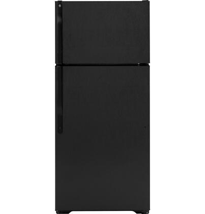 GE GTH17DBDBB Freestanding Top Freezer Refrigerator with 16.5 cu. ft. Total Capacity 2 Wire Shelves 4.07 cu. ft. Freezer Capacity