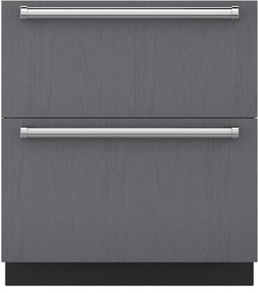 """Sub-Zero ID-30F 30"""" Energy Star Rated Freezer Drawers with 4.9 cu. ft. Capacity, Smart-Touch Controls, Soft-On LED Lighting, and Soft-Close Drawers, in Panel Ready"""