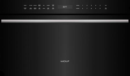 "Wolf MDD30 30"" M Series Dropdown Door Microwave Oven with 1.6 cu. ft. Capacity, 900 Watts Power, Quick-Start Controls, Keep Warm Mode, and Gourmet Mode"