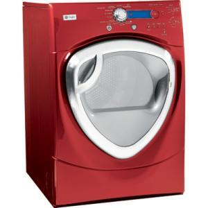 GE DPVH890GJMV Profile Series Gas Dryer, in Red