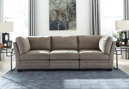 Milo Italia Madalyn 6510X-51-46-51 3-Piece Modular Fabric Sectional Sofa with 2 Corner Chairs, 1 Armless Chair, Tufted Cushions and Stitching Details in