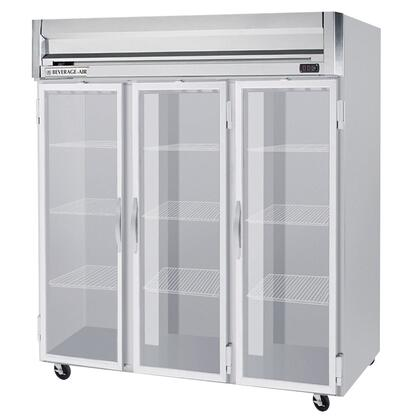 Beverage-Air HFP3-5 Horizon Series Three Section [Solid Door] Reach-In Freezer, 74 cu.ft. Capacity, Stainless Steel Front and Sides, Aluminum Interior