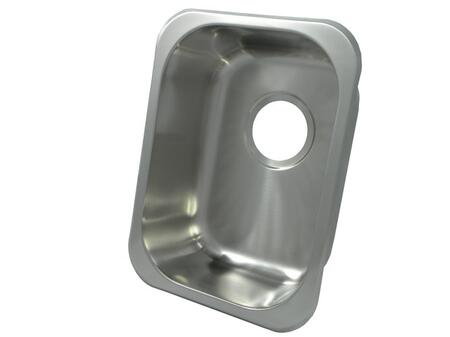 """Opella 13202.04X 12"""" x 16"""" Rectangular Self Rimming Undermount Bar Sink With 3.5"""" Drain Opening & In"""