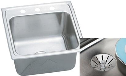 "Elkay DLR191910PD Gourmet Perfect Drain Sink Stainless Steel 10 1/8"" Bowl Depth:"
