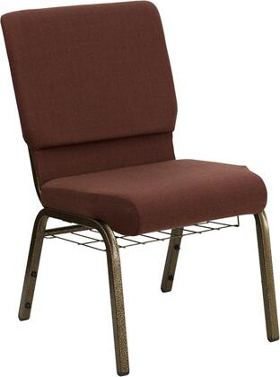 "Flash Furniture HERCULES Series FD-CH02185-GV-XX-BAS-GG 17.75"" Church Chair with 4.25"" Thick Seat, Communion Cup Book Rack, Gold Vein Frame, Watrefall Seat Reduces Leg Strain, and Plastic Rocker Glides"