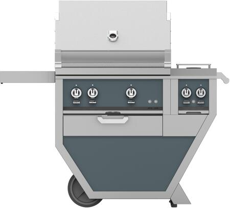 48 in. Deluxe Grill with Side Burner   Pacific Fog