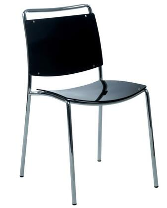 Euro Style 81001BLK Stefie Series Contemporary  Dining Room Chair