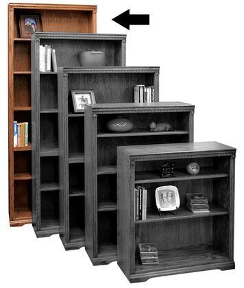 Legends Furniture SD6884RST Scottsdale Series Wood 5 Shelves Bookcase