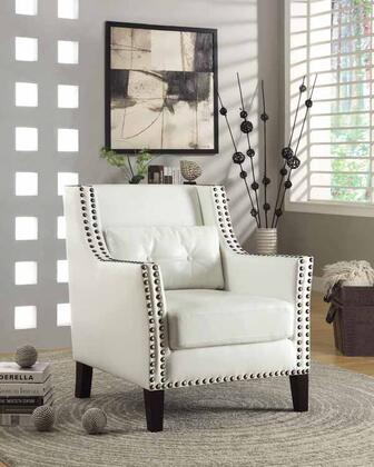 Coaster Faux Leather Accent Chair 902225 White Appliances Connection