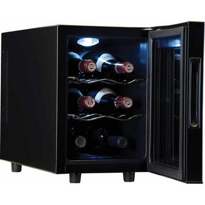 Haier HVTEC06ABS 10 Inch Freestanding Wine Cooler on