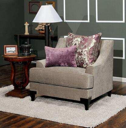 "Furniture of America Viscontti Collection SM220X-CH 39"" Chair with Accent Pillows, Nailhead Trim and T-Cushion Seating in"