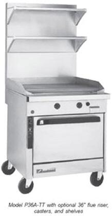 "Southbend P36DX Platinum Series 36"" Griddle with Six Standard Burners, Electric Pilot Ignition, and Standard Oven Base, Up to 96000 BTUs (NG)/84000 BTUs (LP)"