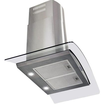 "Golden Vantage GWR73S36 36"" Wall Mount Range Hood with 760 CFM, 65 dB, Crisp Analog Push Buttons, 2W LED Lighting, 3 Fan Speed, Aluminum Grease Filter and X: Stainless Steel"