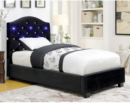 Furniture of America CM7421BKTBED Betelgeuse Series  Twin Size Platform Bed