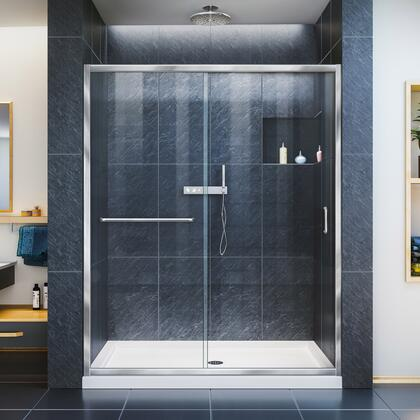 Infinity Z Shower Door 60 Chrome