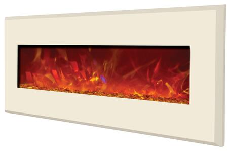 Amantii WMBI586421GALLERYWHITE Wall Mountable Electric Fireplace