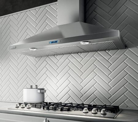 Elica EVR63XS1 Aspire Series Varna Wall Mount Chimney Hood with 600 CFM Internal Blower, Heat Guard, CFM Reduction System, Stainless Steel Micro Hole Filters, and 2 Halogen Lights: Stainless Steel