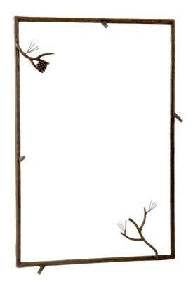 Stone County Ironworks 904-117 Pine Wall Mirror
