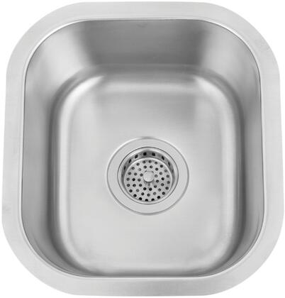 "Standard View of the Rafaela 13"" Sink"