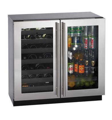 """U-Line 3036BVWCS00 35.44"""" Built-In Wine Cooler"""